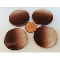PERLES DISQUES palet 30mm Nacre Dégradé marron par 4 pcs