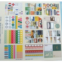 Stickers Autocollants THEME VOYAGE Vacances par 12 Feuilles
