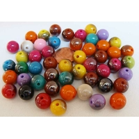 Perles Acrylique Rondes 10mm bicolores MIX couleurs par 50 pcs