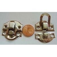 Fermoir Fermeture (2 pièces) petit rabat 27x28mm métal couleur Argenté Acier par 2 pcs