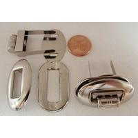 Fermoir Fermeture Tourniquet Tournant 32x20mm métal couleur Argentée Acier par 1 pc