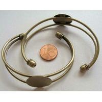 Bracelet Métal bronze support cabochon rond 20mm