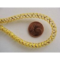 Fil Résille tubulaire JAUNE fil dore 4mm par 5 mètres