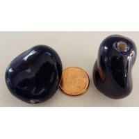 Grande Perle PORCELAINE GALET TWIST par 1 pc