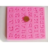 MOULE silicone rose ALPHABET + CHIFFRE par 1 pc