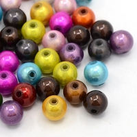 Perles Acrylique Rondes 8mm miracle MIX couleurs par 50 pcs