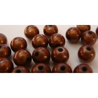 Perles Acrylique Rondes 8mm miracle MARRON par 20 pcs
