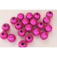 Perles Acrylique Rondes 8mm miracle FUCHSIA par 20 pcs