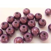Perles Acrylique Rondes 8mm miracle VIOLET par 20 pcs