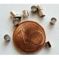 Perles à écraser 3mm Tubes ARGENT VIEILLI par 100 pcs