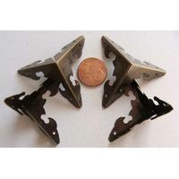 COIN 3D 29x29x29mm métal couleur Bronze par 4 pcs