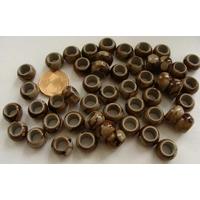 Perles résine Rondelles 10x7mm marbré Marron par 50 pcs