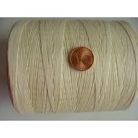 FIL Coton ciré ECRU 1mm plat par 5 m