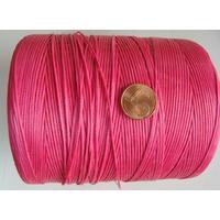 FIL Coton ciré ROSE FUCHSIA 1mm plat par 5 m