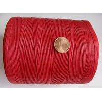 FIL Coton ciré ROUGE 1mm plat par 5 m