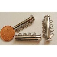 1 FERMOIR 4 rangs magnétique métal argenté 27mm par 1 pc