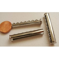 1 FERMOIR 7 rangs magnétique métal argenté 38mm par 1 pc