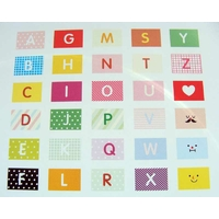 Stickers Autocollants THEME ALPHABET par 10 Feuilles