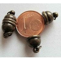 Fermoirs Ovale 16x8mm magnétique aimant Bronze par 2 pcs