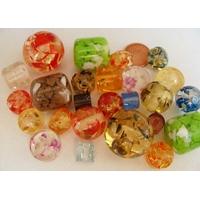 1 lot MIX couleurs perles résine Incrustation Mix forme / couleurs par 25 pcs