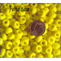 Perles verre Rondelles 5x7mm unie JAUNE x 25pcs