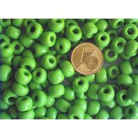 Perles verre Rondelles 5x7mm unie VERT x 25pcs