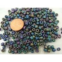 Rocaille 4mm 6/0 OPAQUE mélange couleurs mix1 par 20 grammes