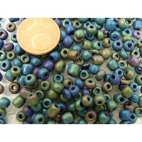 Rocaille 4,5mm OPAQUE mélange couleurs mix2 par 20 grammes