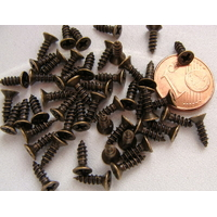 Petites Vis 8mm métal couleur bronze par 50 pcs