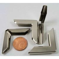 Angles 30x6,5mm métal couleur argenté simple par 8 pcs