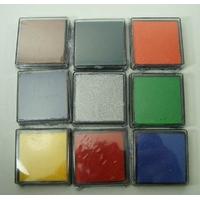 Lot 9 Petits Encreurs 4x4cm Encre Mix couleurs