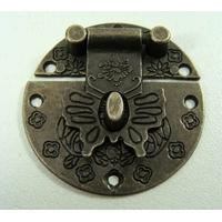 Fermoir Fermeture (2 pièces) rabat papillon 39mm métal couleur Bronze par 1 pc
