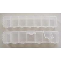 Casiers 7 compartiments pour rangement 15x3x1,8cm par 2 pcs