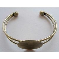 Bracelet Métal bronze support cabochon rond 25mm
