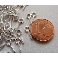 Piton à vis bélière 10mm métal ARGENTE CLAIR par 100 pcs