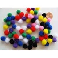 Pompons 10mm environ MIX couleurs par 70 pièces