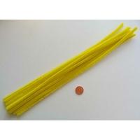 Chenilles Cure-pipe 30cm JAUNE par 10 pièces