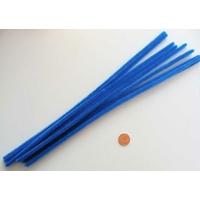 Chenilles Cure-pipe 30cm BLEU par 10 pièces