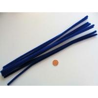 Chenilles Cure-pipe 30cm BLEU FONCE par 10 pièces