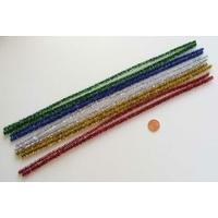 Chenilles Cure-pipe 30cm métalisé MIX couleurs par 10 pièces