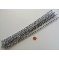 Chenilles Cure-pipe 30cm métalisé ARGENTE par 10 pièces