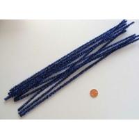 Chenilles Cure-pipe 30cm métalisé BLEU FONCE par 10 pièces