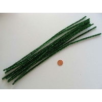Chenilles Cure-pipe 30cm métalisé VERT par 10 pièces
