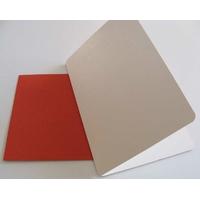 Carte pliée 105x152mm avec enveloppe rouge par 2 pcs