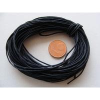 FIL Coton ciré NOIR 0,7mm en echeveau par 10 m
