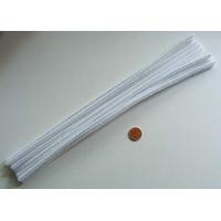 Chenilles Cure-pipe 30cm BLANC par 10 pièces