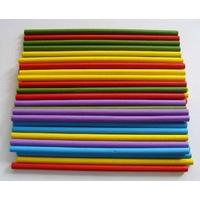 Bâtons Ronds en BOIS longs 13cm diamètre 0,5cm MIX Couleurs par 40 pcs