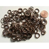 Anneaux mix 4 à 14mm métal couleur cuivre par 35 grammes