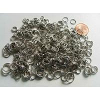 Anneaux mix 4 à 10mm métal Argenté par 35 grammes
