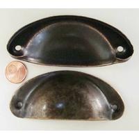 Poignée métal couleur bronze 81mm par 1 pcs